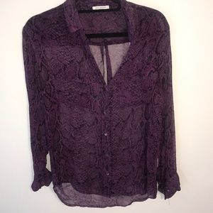 Equipment snake skin purple blouse